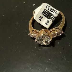 Size 9.5 Fine cubic zirconia gold plated